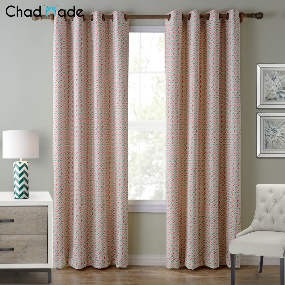 Chadmade 4 Colors Modern Blackout Curtains For Living Room