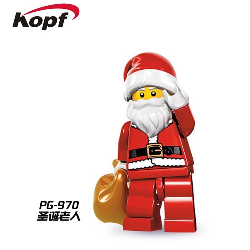 PG970 Building Blocks Christmas Santa Claus C-3PO Super Heroes Space Wars Model Action Bricks Best Collection Toys For Children