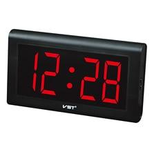 New Modern Plastic Table Clock Digital LED Wall Clock Glowing Numbers Large Display Digital Clocks with Plug Luminous Clock