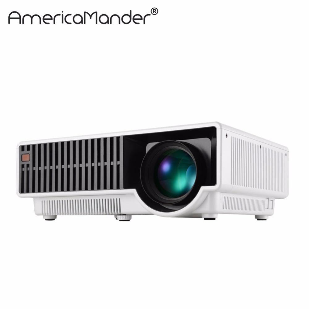 Free Shipping 2016 Bl35 Projector Full Hd Tv Home Cinema: 250inch Screen Brightest 3000Lumen Full HD DLP Business