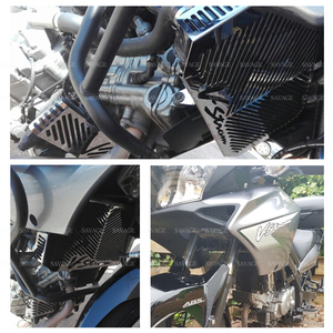 Image 2 - Radiator Grille Guard Cover Cap Protector For SUZUKI DL650 DL 650 V Strom VStrom 2004 2010 09 Oil Cooler Protection Covers Caps