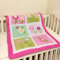 100% do bebê do algodão bedding colcha jacquard cobertor do bebê cobertores infantis animal da flor do jardim de infância meninas deken verificar stcok pls