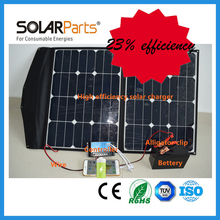 100W high efficiency foldable solar panel laptop used for battery charging