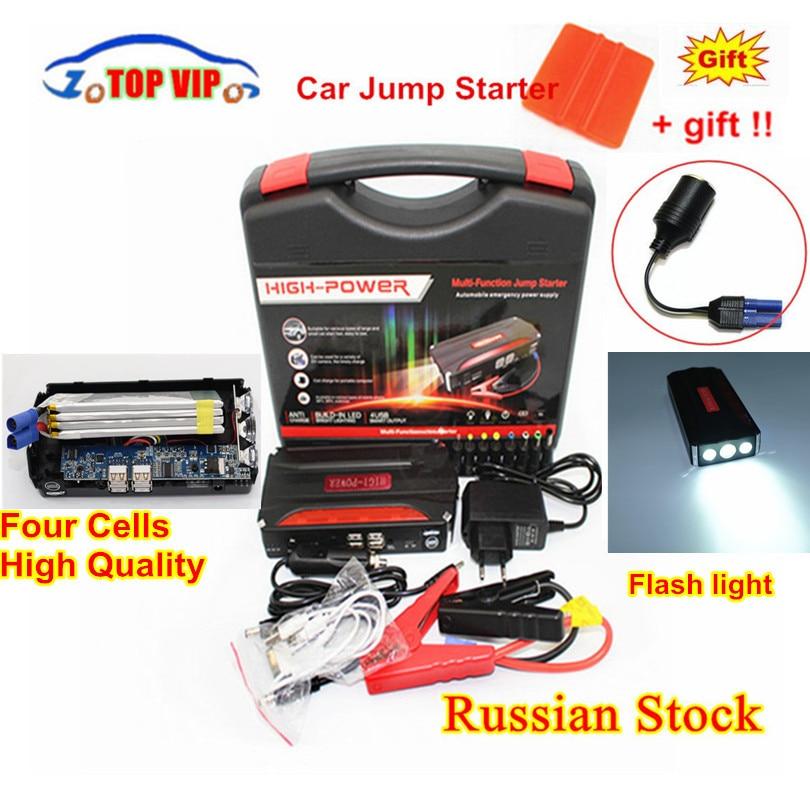 600A Car Jump Starter Emergency 12V Starting Device 4USB SOS Light Mobile Power Bank Car Charger For Car Battery Booster