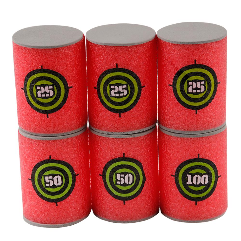 6Pcs Nerf Bullets Foam Bottle Bullet Training Toy Targets Shot Dart Special Training Nerf Gun Toy Gun Shooting Target