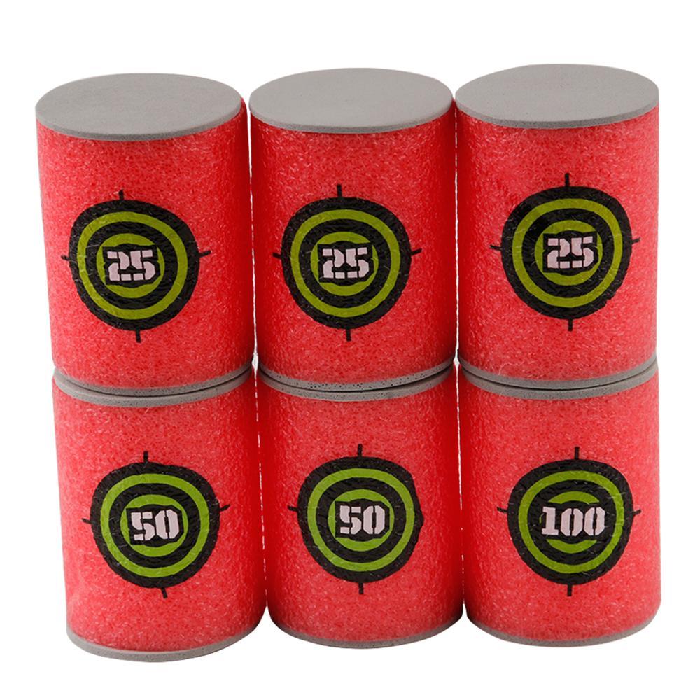 6Pcs Nerf Bullets Foam Bottle Bullet Training Toy Targets Shot Dart Special Training Nerf Gun Toy Gun Shooting Target