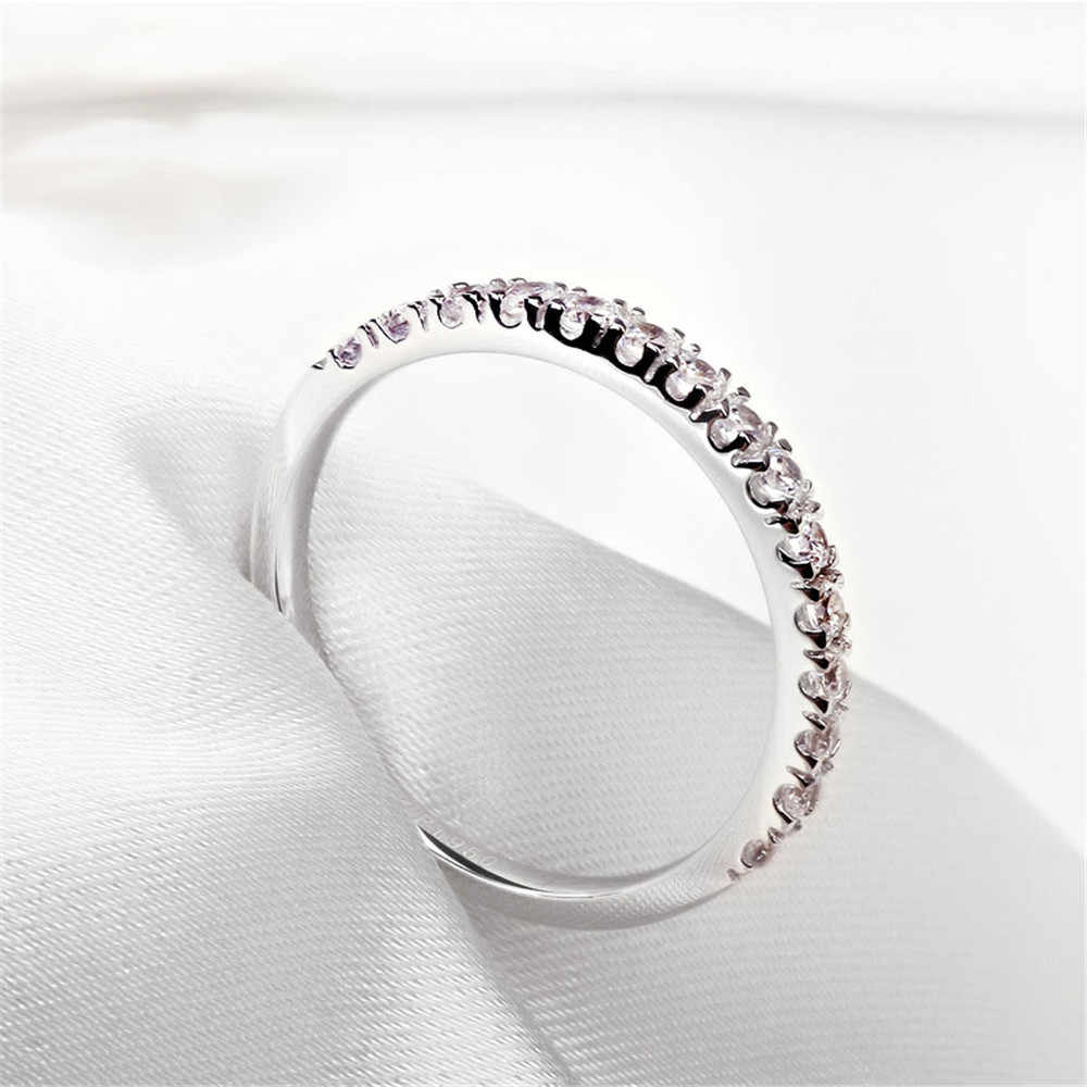 Onerain Chic100 % 925 Sterling Silver Putih Topaz Citrine Pernikahan Pertunangan Batu Permata Berlian Cincin Sederhana Perhiasan Grosir 6-10