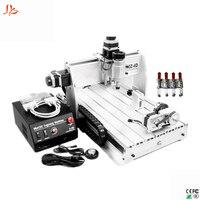 Mini CNC freesmachine 3040Z DQ cnc router met tool Auto controle 3 axis of 4 axis voor optionele-in Gereedschapsdelen van Gereedschap op