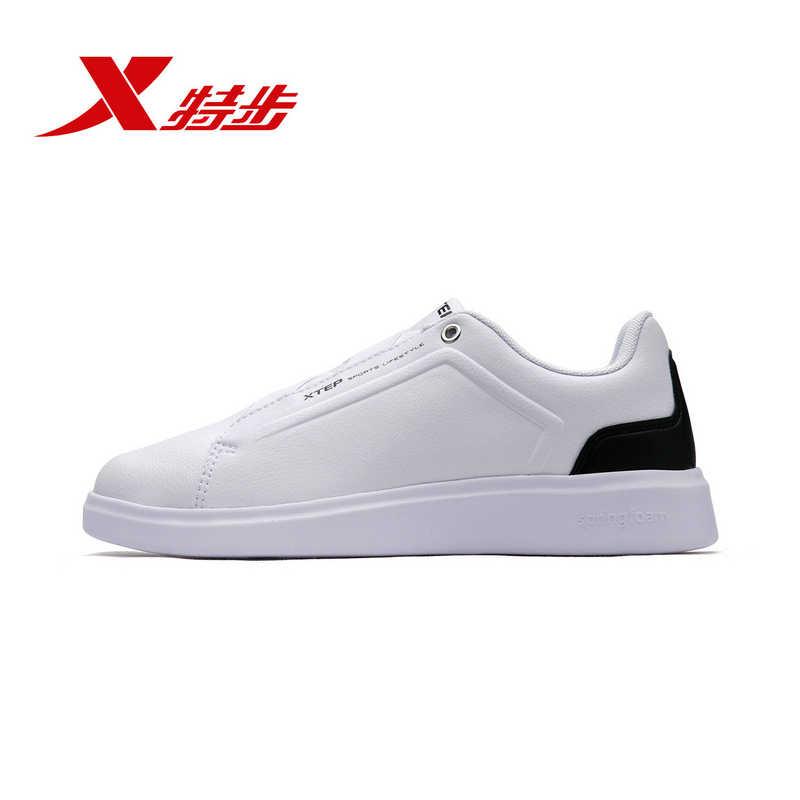 Xtep branco sapatos de skate feminino outono novas sapatilhas na moda confortável respirável sapatos para mulher 982318319075