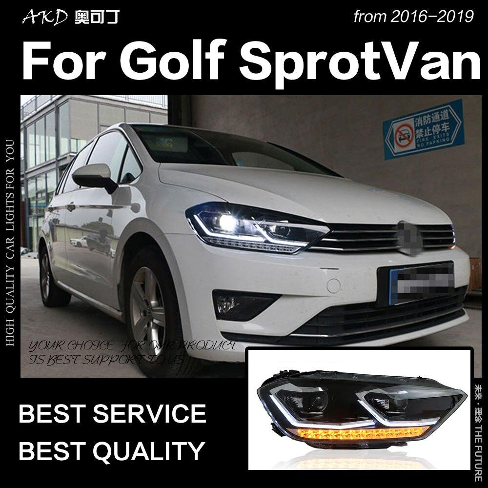 Style de voiture Tête Lampe pour Golf Sportsvan Phare 2016 De Golf 7 Sportsvan phare led objectif de projecteur bi xénon auto accessoire