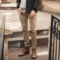 SIMWOOD 2016 new outono inverno casual calças dos homens calças de vestuário marca de moda slim fit KX5530