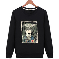 2018 new Brand Men Hoodies print Sweatshirt Solid Color Trend Cotton Pullover Coat Mens Clothes Male wholesale high quality