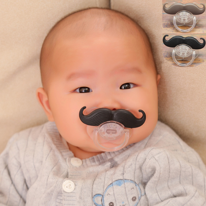 Funny Baby Pacifier Mustache Dummy Nipple Feeding Infant Kids Soother Beard Pacifier Baby Supplies