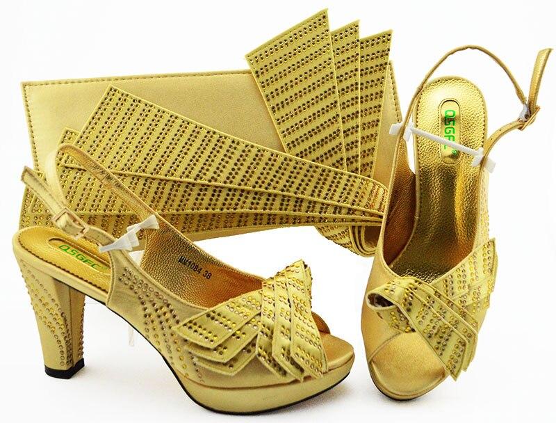 Borse Partito Corrispondenza 5 Oro Donne 8 E Cristallo 6 7 4 Nigeriano Africano Decorato 2 Più Di 1 Nuovo Pompe Italiano Con Del Set 3 Scarpe Borsa xTqnw5EUYg