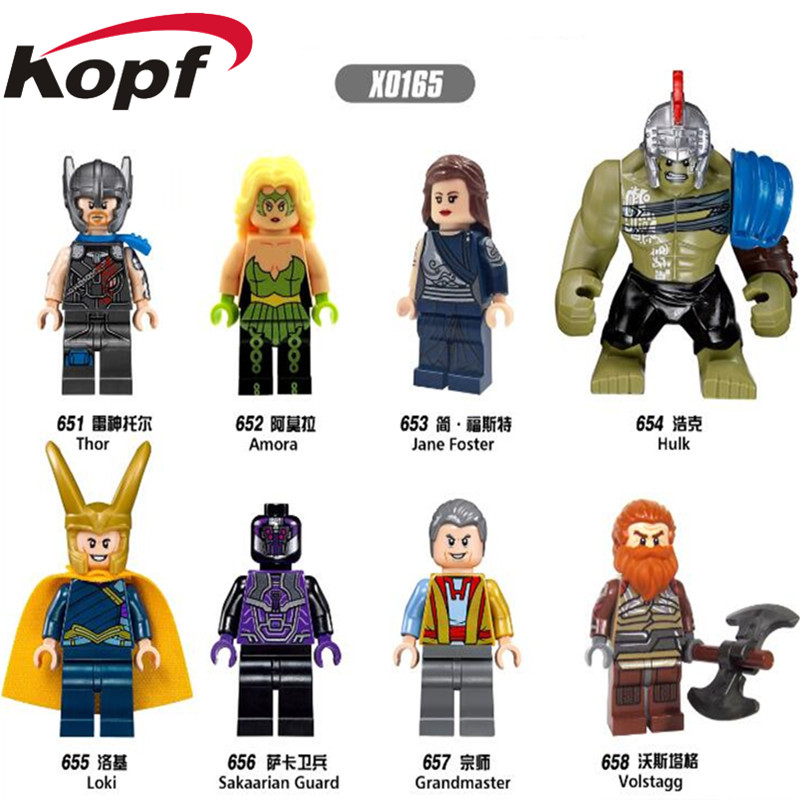 Single Sale Super Heroes Thor Amora Jane Foster Hulk Sakaarian Guard Bricks Action Building Blocks Children Gift Toys X0165
