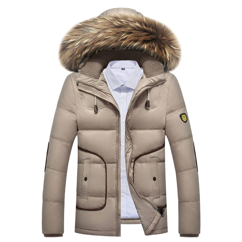 Winter Jacket With Hood Men 2017 New Brand Winter Warm White Duck Down Wadded Coat Mens Quilted Jacket Faux Fur Hooded Jackets слингобусы ti amo мама слингобусы сильвия