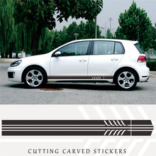 2pcs Racing Car Striped Vinyl Body Sticker Side Door Long Stripe Stickers Auto Decal Decals
