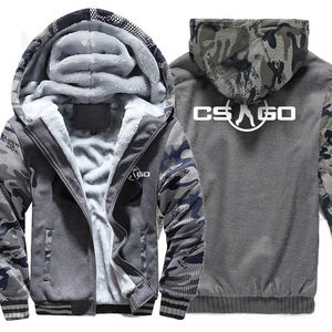 Image 2 - The Game CS GO Costume Mens Sportswear 2018 Winter Fleece Brand Thick Sweatshirt Zipped Hoodies Jacket Harajuku Tracksuit Hoody