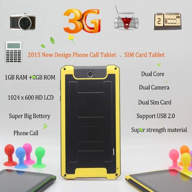 7 polegada Original 3G Phone Call Tablet Pc 1 GB 8 GB Cartão de 2 SIM 2G 3G Phone call Dual Core Suporte USB 7 8 9 10 polegada tablet android