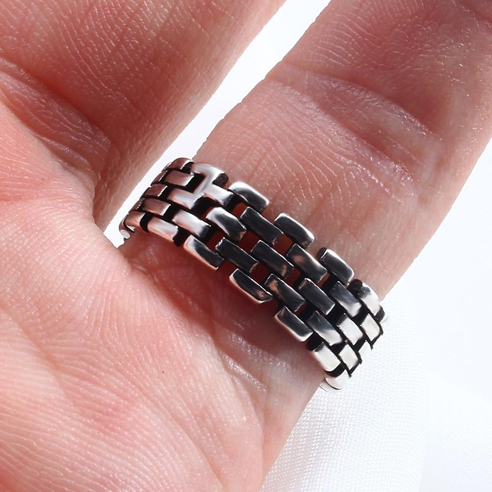 SHE WEIER adjustable men rings for women wedding female couple rings male valentine gift bijouterie girls Stainless Steel