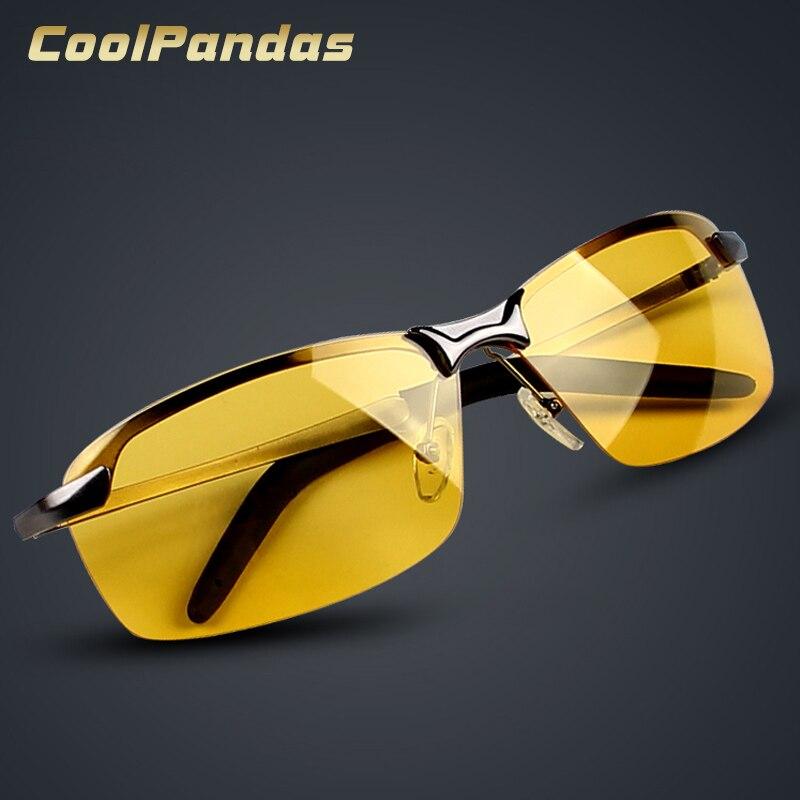 2018 New Night Vision Sunglasses Men Brand Designer Fashion Polarized Night Car Safety Driving Enhanced Light Anti-glare Glasses