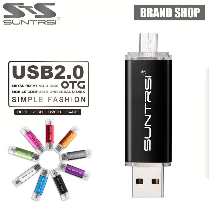 Suntrsi USB Flash Drive 64GB Metal OTG Pendrive font b External b font font b Storage