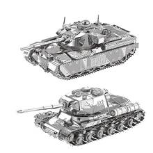 2 предмета в комплекте HK Нан юаней 3D металлические головоломки JS-2 танка и главный бак MK50 DIY лазерная резка головоломки модель игрушки для взрослых подарок для ребенка