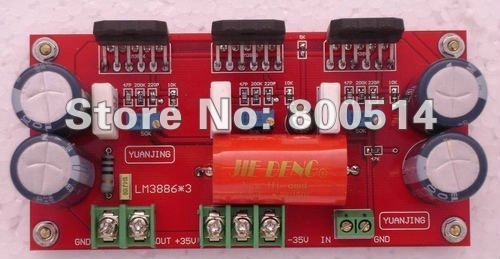 Yj-собранный LM3886 * 3 момо усилителя мощности доска 150 Вт усилитель мощности доска