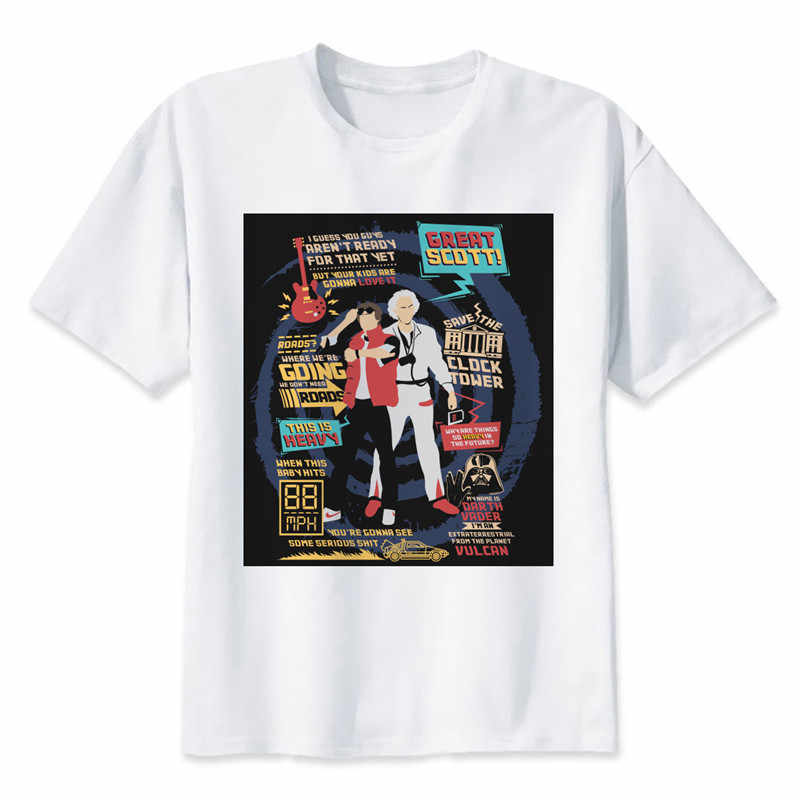 Detail Feedback Questions about back to the future T shirt Men Funny Design  white Short Sleeve O neck Tshirts Fashion Summer new streetwear hip hop tee  man ... 653b61940901