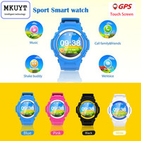 MKUYT V12 Kids GPS Phone Positioning Fashion Children Watch 1.22 Inch Color Touch Screen WIFI SOS Smart Watch PK Q80 Q90
