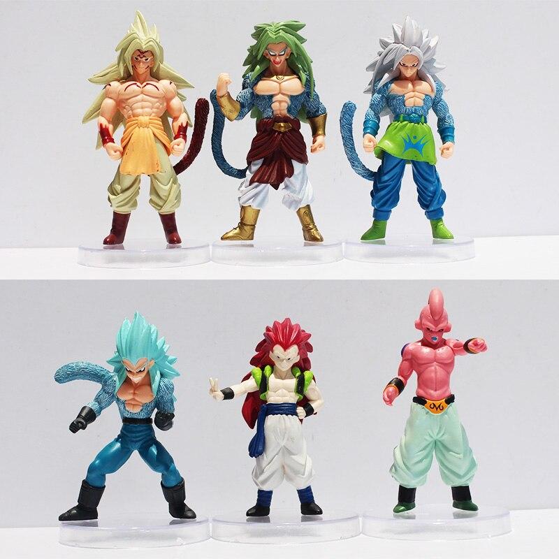 6pcs/set Anime Cartoon Dragon Ball Z Super Saiyan Son Goku Freezer 9~12cm PVC Action Figure Toys Model Dolls Kids Birthday Gift напольная плитка grasaro parquet art gt 508 gr 40x40