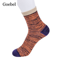 Goebel Winter Cotton Socks Man Nation Wind Stitching Color Men In Tube Socks Comfortable Casual Male