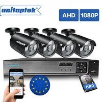 3 в 1 4CH 1080 P система безопасности, AHD, DVR NVR CCTV Системы 2.0MP 3000TVL Камера защита от атмосферных воздействий AHD H видео наблюдение набор камер