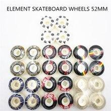 米国ブランド要素 Pro グラフィックスケートボードの車輪 PU スケートホイールストリート rodas デスケートため道路 4 スケートボードの車輪 52 ミリメートル