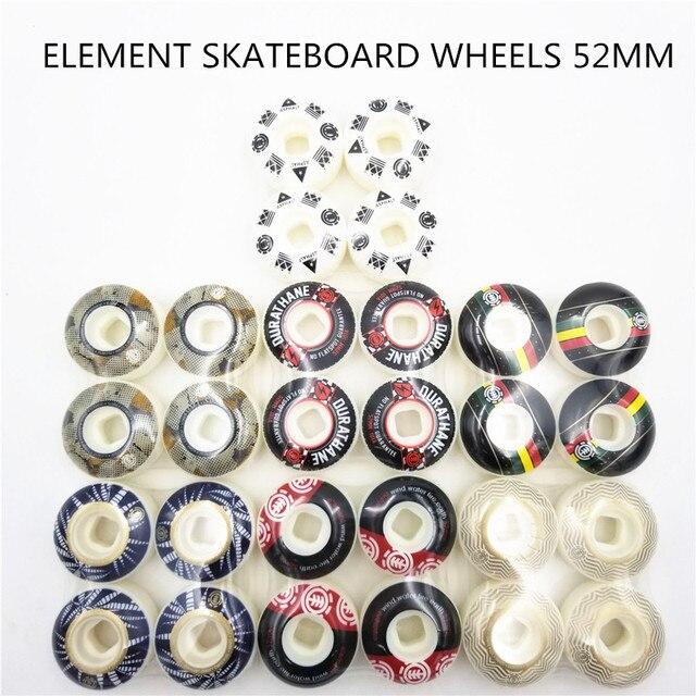 Roues de planche à roulettes graphiques de lélément de marque des etats unis roues de patin dunité centrale quatre roues de planche à roulettes de route de rue pour rodas de Skate 52mm