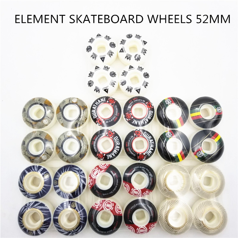 USA Brand Element Pro Graphics Skateboard Wheels PU Skate Wheels Street Road Four SkateBoard Wheels For Rodas De Skate 52mm
