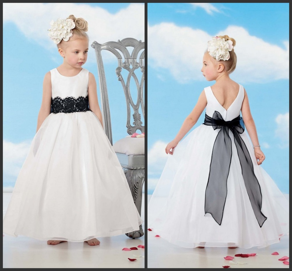 Pretty a line flowers girl dresses black sash applique bow junior pretty a line flowers girl dresses black sash applique bow junior bridesmaid gown organza baby little girls ld1636 in flower girl dresses from weddings mightylinksfo