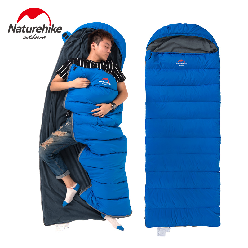 Naturehike Envelope down-filled sleeping bag winter outdoor Camping down feather with thick warm duvet adult sleeping bags hewolf outdoor sleeping bag envelope thick warm autumn and winter camping adult sleeping bag ultralight duvet