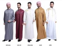 Arab Muslim Clothing for Men The Middle East Arab Male People Dress Thobe Arabic Islamic Abayas Dress Indian Mens Robe