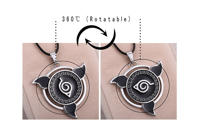 Naruto Rotatable Pendant Necklace