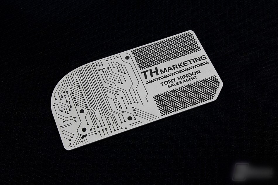 Silver steel metal business card colours printing High quality ...