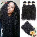 Cambodian Virgin Hair with Lace Closure 8A Cambodian Curly Virgin Hair 3 Bundles Grace Hair Curly Weave Human Hair with Closure