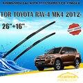 "Lâminas de limpador para toyota rav4 rav-4 (2012-) 2013 2014 2015 Car Windscreen Windshield Wiper Wiper Blade 16 ""+ 26"" carros estilo"