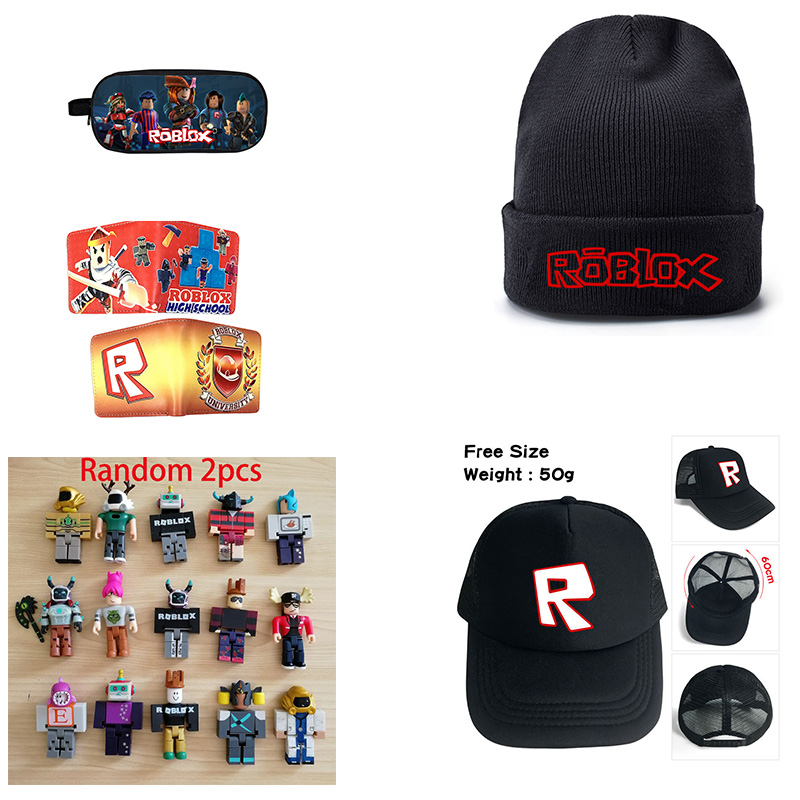 US $2 5 |Game roblox Figma Oyuncak Pencil Bag Case boys girls knit warm  hats Kids Gift Cartoon short purse Action Figure Toys Makeup Bag-in Action  &