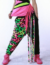 New fashion Brand Harem Dance Pants Hip Hop Style Sweatpants with Tassle Performance Costumes Candy color female trousers