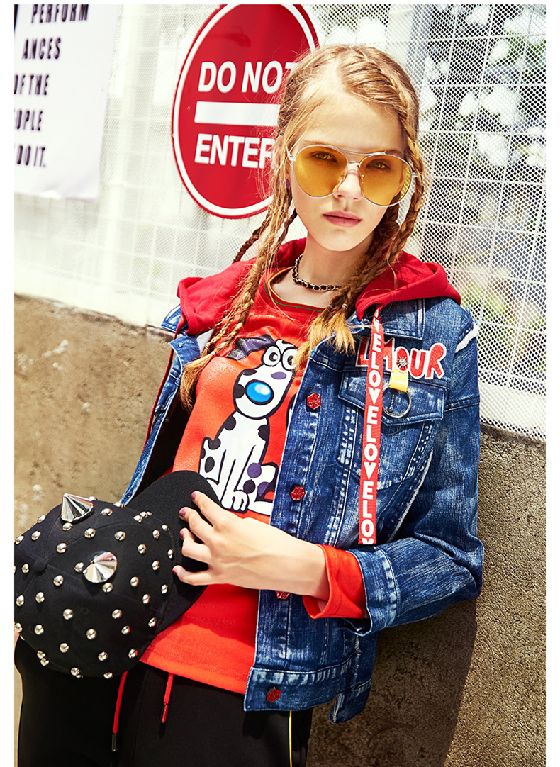 Ladies Loose Jeans Coats Plus Size Jean Jacket For Women Autumn Spring Long Sleeve Overcoat Short Top Jackets 2018 New CH573 (9)