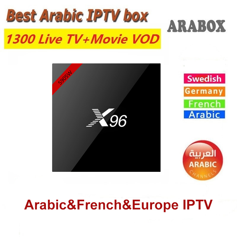 Vshare Arabic IPTV box support 1300+ Arabic Africa French Swedish Europe  channels X96 Android IPTV Box