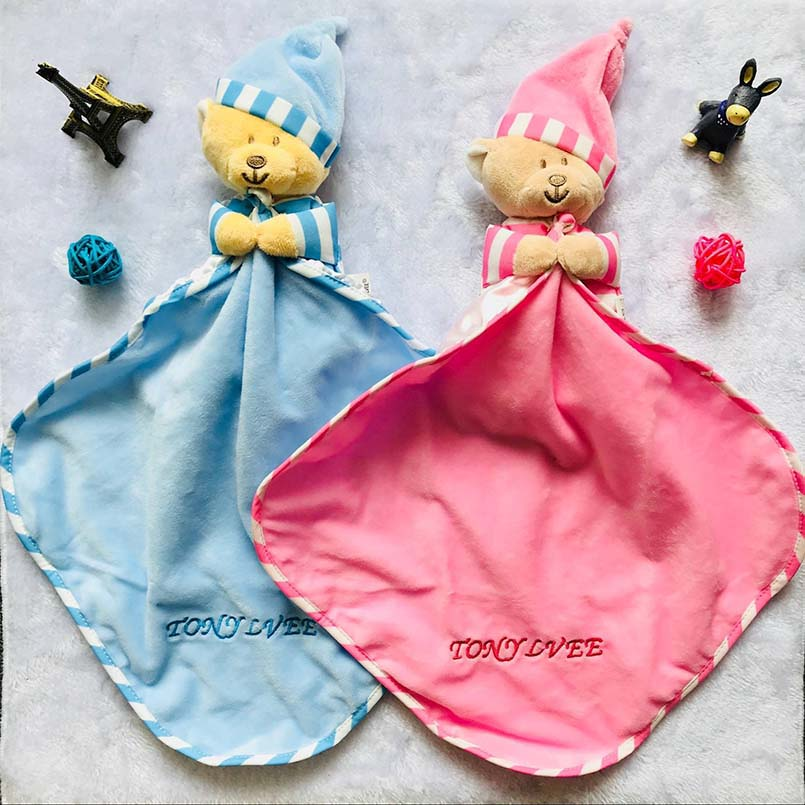 Baby Toys 0-12 Months Appease Towel Soft Plush Soothe Sleeping Animal Blankie Towel Educative Baby Rattles Mobiles Stroller Toys