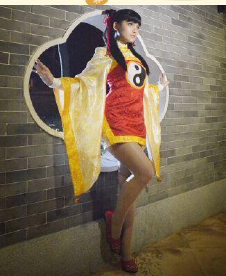 Card captor Sakura RI MEIRIN Benutzerdefinierte Größe Chinesischen Stil Alte Uniformen Cosplay Kostüm freies Verschiffen - 2