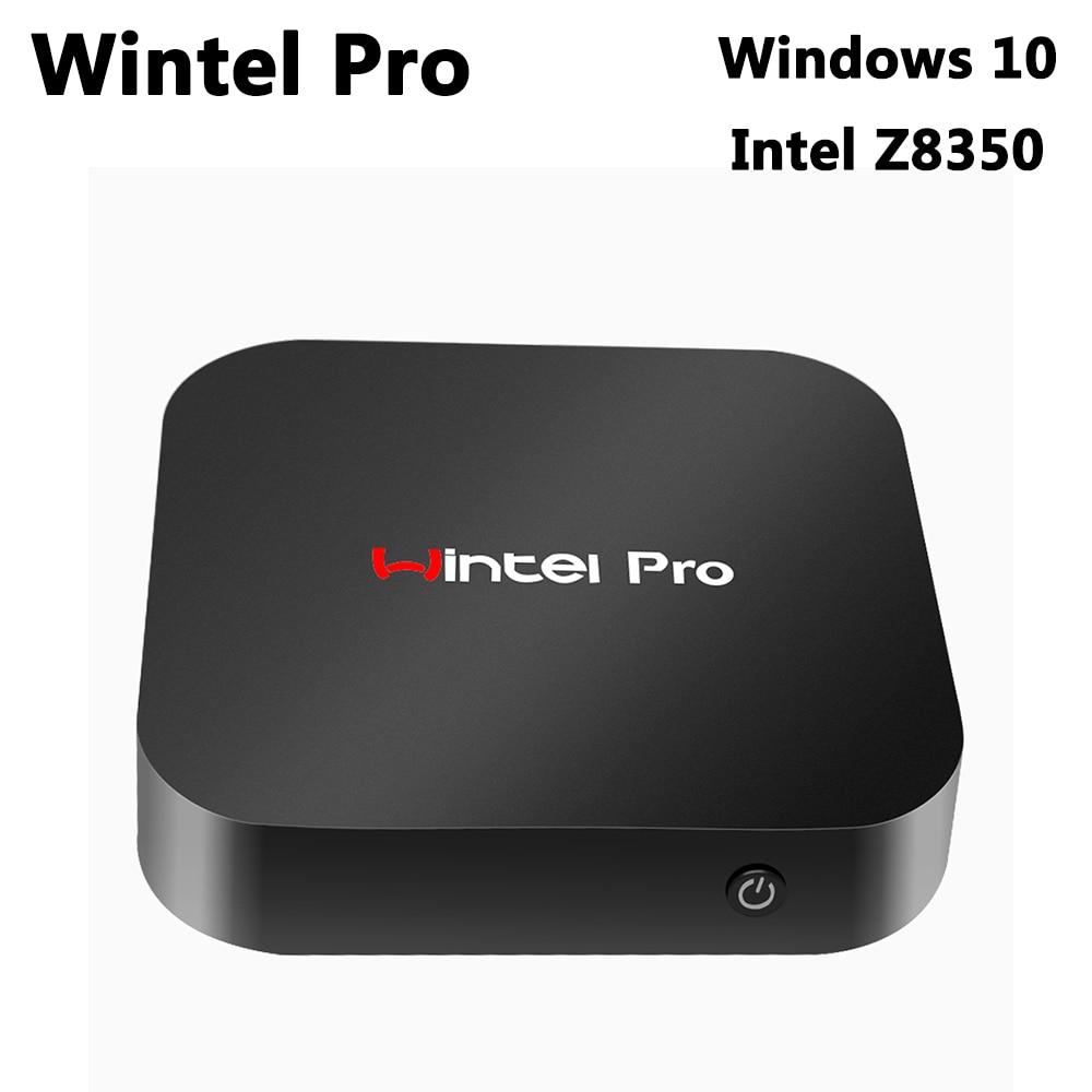 T8 Wintel Pro Оконные рамы 10 Умные телевизоры Box Intel Atom x5-z8350 4 ядра Мини-ПК 2 ГБ DDR3 32 ГБ Встроенная память Wi-Fi Bluetooth 4.0 media player